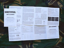 Penrith Survival Equipment/Survival Aids Ltd Survival Kit Aide-Memoire (E&E/SAS)