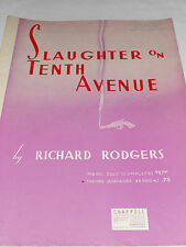 1936 sheet music Salughter on Tenth Avenue