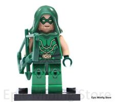 Custom Green Arrow Minifigure DC Superheroes fits with Lego 0135 UK Seller #41