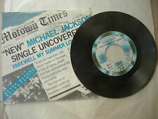 "MICHAEL JACKSON""FAREWELL MY SUMMER LOVE-disco 45 giri MOTOWN italy 1984"""