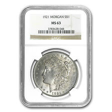 1921 Morgan Silver Dollar - MS-63 NGC