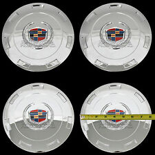 "4 CHROME ESCALADE 22"" Wheel Center Hub Caps 6 Lug Hubs Nut Cover 7 Spoke Rim RC"