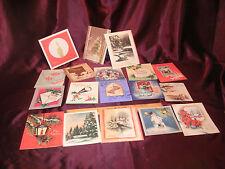 18 Vtg Christmas Cards-1940's-Brundage/Whit/Marchant/Whitman-free ship