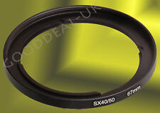 67mm Lens Filter Adapter Ring Mount per Canon PowerShot 30 SX50 SX40 HS FA-DC67A