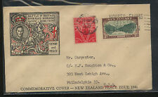New  Zealand  nice cachet  cover  1947        AT0623