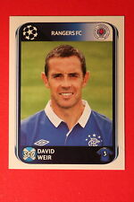 PANINI CHAMPIONS LEAGUE 2010/11 # 180 RANGERS FC WEIR BLACK BACK MINT!