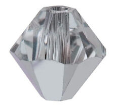 10 SWAROVSKI CRYSTAL 3 MM BICONE BEADS 5301 / 5328, COMET ARGENT LIGHT