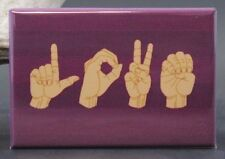 "LOVE American Sign Language - 2"" X 3"" Fridge Magnet. Creative Gift Idea!"
