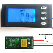 AC Digital LED Voltage power meter monitor watt energy KWh time Volt Ammeter 20A