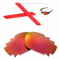 New Walleva Polarized Vented Fire Red Lenses And Red Earsocks 4 Oakley Jawbone