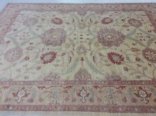 8 x 10 Beige Purple Zegler Persian Oriental Rug Muted Large Hand Knotted Carpet
