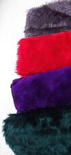 """4 Piel Sintética Tela 18"""" plazas 4 Colores Violeta Malva Verde Azulado Rojo 46 cm sin usar"""