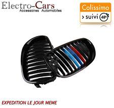 x2 GRILLE DE CALANDRE NOIR PACK M COMPATIBLE BMW SERIE 5 E60 2003 à 2010
