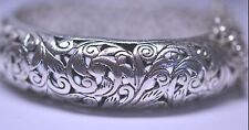 SILPADA B1829 HEAVY STERLING SILVER FOREVER STUNNING FILIGREE BANGLE BRACELET