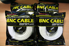 New 4 High Quality 200FT BNC Extension CCTV Cable for Samsung,Kguard,Swan,Lorex