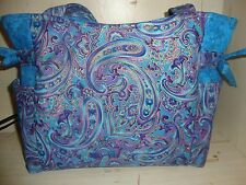 Lavendar and Turquoise Paisley Handmade Purse/Handbag!