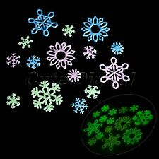 Snowflakes Glow In The Dark Luminous Fluorescent Wall Stickers Home Decoration