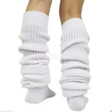 Women Girls Bubble Loose Leg Warmer Slouch Socks Japanese Style White 23""