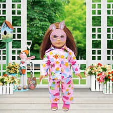 18 inch Handmade Pink Pajamas Dolls Clothes Party Dresses For Barbie Dolls