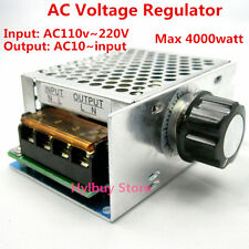 AC 110V~220V SCR Voltage Regulator adjust Motor Speed Control Dimmer Thermostat
