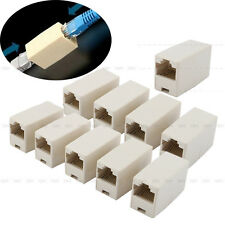 10pcs Lan Ethernet via cavo accoppiatore di rete connettore RJ45 CAT 5 5E