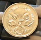 Australian 1986 Five Cent Coin In Holder Uncirculated Unc .5c Coin Collectable