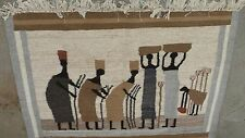 HAND WOOVEN TEXTILE RUG LIMITED EDITION SIGNED TAGGED MID CENTURY MODERN