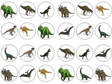 24 CAKE TOPPER Dinosauro CHIGNON Fairy Decorazioni per Cupcake Compleanni Party commestibili carta