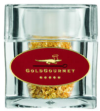 Goldgourmet Genuine Edible Gold Leaf Flakes In Clear Acrylic Cube Shaker, 100 Mg