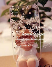 New Crystal flower Transparent Finished HARD Case cover for APPLE iPhone 4 4S AG