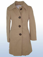 CAPPOTTO DONNA BEIGE LANA BENETTON TG ITA 42 UK 10 DE 36