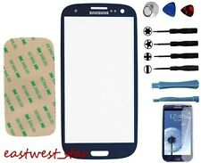 Pebble Blue Outer Screen Glass  Replacement For Samsung Galaxy S III S3 I9300