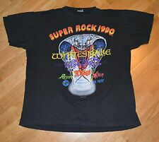 RaRe *1990 AEROSMITH -WHITESNAKE- DIO* vtg concert shirt XL 80's The Front Vixen
