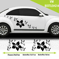 VW Beetle Flowers With Butterfiles Graphics  Stickers  Decal /Tuning Car
