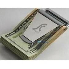 Newest Slim Steel Money Clip Double Sided Credit Card Holder Wallet