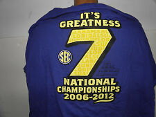 SEC Lucky Seven National Championships Teams T-Shirt Size XL (NWT)