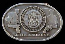 VINTAGE 1991 SMITH AND WESSON LAW ENFORCEMENT BELT BUCKLE NICE!
