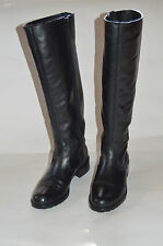 DONALD PLINER black leather tall boots riding motorcycle size 9 Neiman Marcus