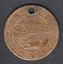 Fairbanks, the golden Heart of Alaska, Messing- TOKEN 1959 - Good for 1,00 $