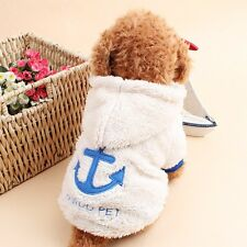 Pet Dog Clothes Apparels Coat Winter Warm Coral Velvet Costume Puppy Hoodie Hood