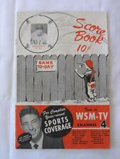 VTG NASH VOLS 1956 SCORE BOOK GAME TO-DAY (vs N.O. PELS) SIGNED BY 7 PLAYERS