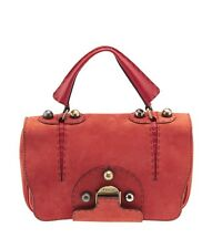 Fendi Secret Code Red Leather Shoulder Bag