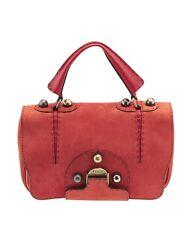 Fendi Secret Code Red Leather Shoulder Bag