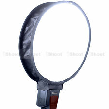 Easy-fold Round Mini Flash Softbox Diffuser Reflector for Nikon Sigma Speedlight