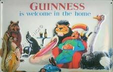 "Old Advert - Guinness is Welcome in the Home Metal Sign - 12"" x 8"" inches"