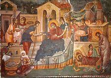Alte Kunstpostkarte - Fresko - Geburt der Gottesmutter