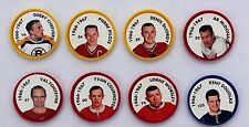 1995-96 Parkhurst Coin 1996-1967 Reprint; Worsley; Cheevers; Pilote; Cournoyer