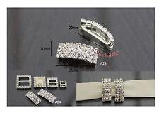 10 x Luxury Diamante Crystal Rhinestone 'A' ribbon buckle sliders Clasp A24