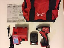 Milwaukee M18 18V 1/4 in Hex Brushless Impact Driver Kit 2750-22CT with Battery
