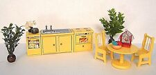 LUNDBY VtG DOLLHOUSE KiTCHEN FURNiTURE PLANTS TABLE CHAiRS SiNK STOVE DiSHWASHER